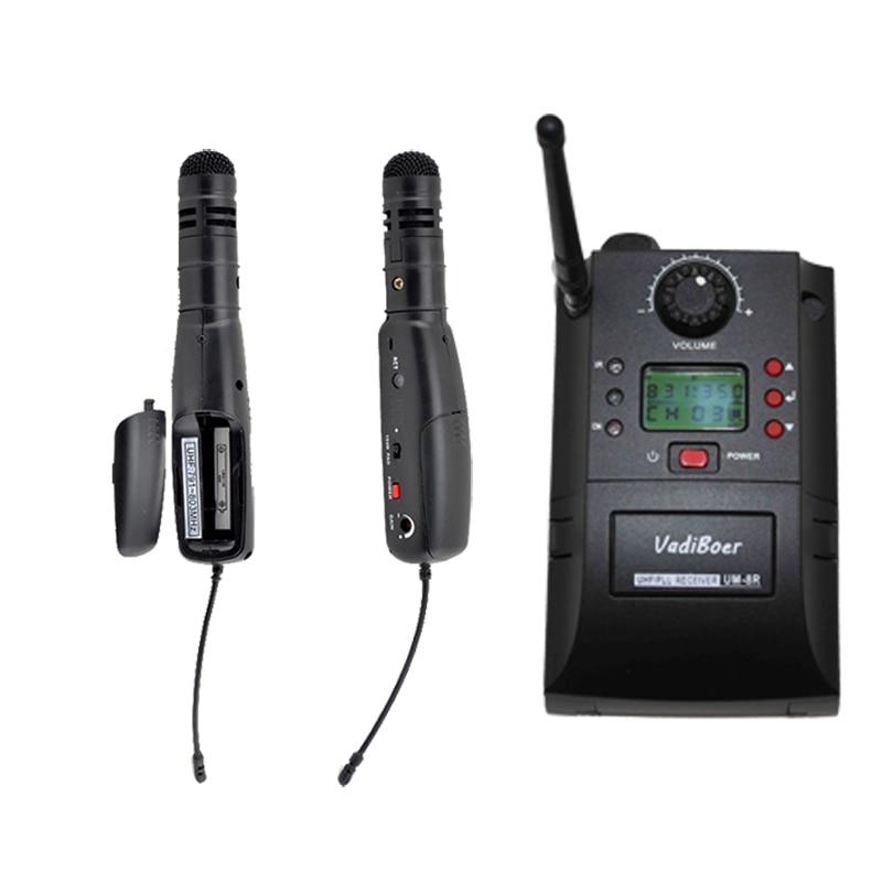 Free Shipping,wireless Camera system , Vadiboer UM-8R Airline UHF Wireless camera wireless microphone AirLinera