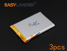 3pcs/Lot 3.7V 4000mAh Rechargeable li Polymer Li-ion Battery For Bluetooth Notebook Tablet PC Consumer electronics 606090 066090