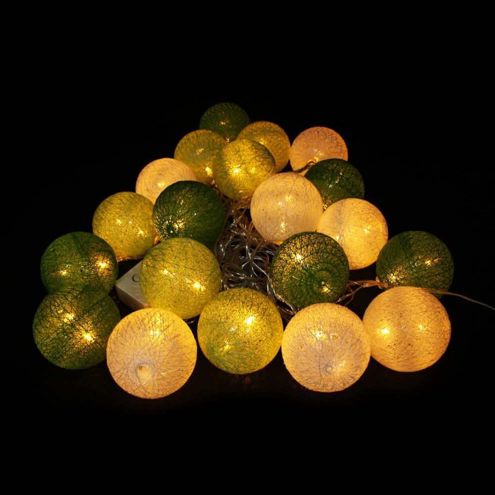 Large String Lights Indoor : 6cm big cotton ball light connectable 5M led christmas lights outdoor indoor 20led AC220V/110v ...