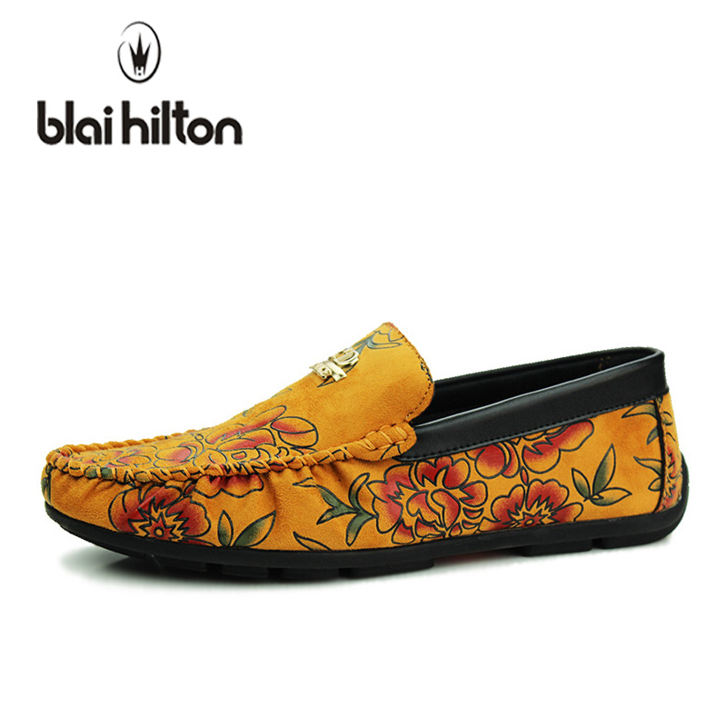 blaibilton 2018 Summer Cloth Fashion Loafers Men Casual Shoes Boat Moccasins Flats Male Luxury Slip-On Driving Soft Flower Print blaibilton summer loafers men shoes 100