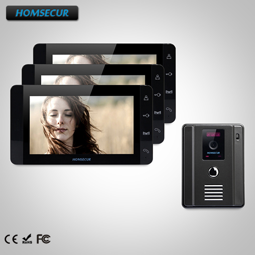 HOMSECUR 7 Hands-free Video Door Phone Intercom System+One Button Unlock TC011-B + TM703-B HOMSECUR 7 Hands-free Video Door Phone Intercom System+One Button Unlock TC011-B + TM703-B