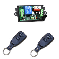 Free Shipping AC 110V 220V 10A Relay 1CH Wireless RF 2 Key Remote Switch 2 Transmitter
