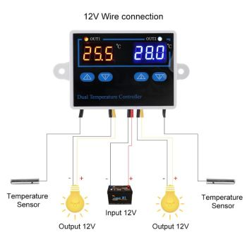 NEW Digital Thermostat Temperature Controller Heating Cooling Control Switch Dual Thermostat for Incubator 10A Direct Output taidacent ntc waterproof temperature controller w1209s digital dual display 12 volt thermostat switch digital thermostat module