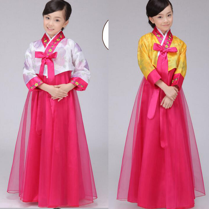 New South Korean Girls Traditional Court Hanbok Dnace Wear Costumes