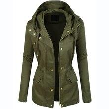 Womens Military Anorak Jacket With Hood Lightweight Women Jacket 2016 Fashion Casual Ladies Jackets Zipper Up Female Coat