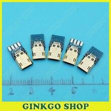 10 шт./лот Micro USB Штекер Разъем Порта с ПЕЧАТНОЙ Платы типа