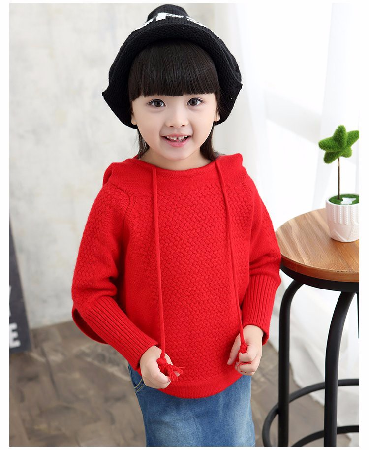 child hooded knitted sweaters 8