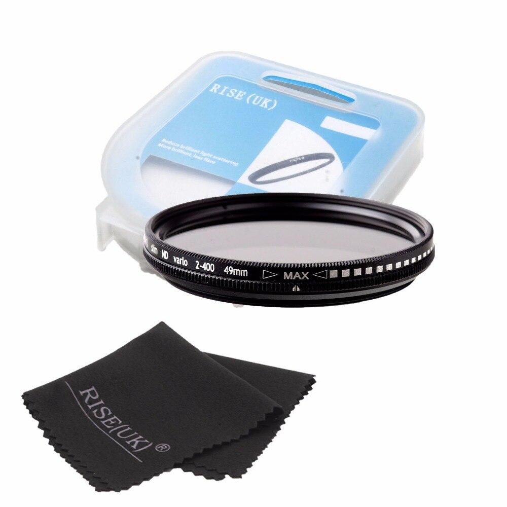 Spedizione gratuita RISE (UK) 49mm/52mm/55mm/58mm ND Fader Neutral Density Regolabile Filtro Variabile ND2 a 400 ND Filter + regalo