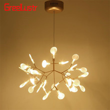 Modern Tree Branch led Chandelier Light Acrylic Firefly G4 Chandeliers Ceiling lamp for Bedroom Art Decor hanging light fixture