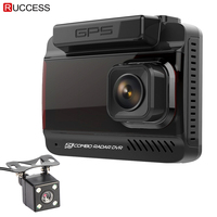 Ruccess 3 In 1 DVR Dash Camera Full HD 1080p Car Camera MSTAR Dual Lens Video