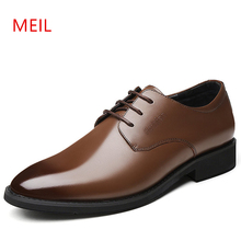 Genuine Leather Mens Formal Oxford Shoes For Men Dress Shoes Handmade Wedding Party Shoes Men Brown Black Casual Business Shoe цены онлайн