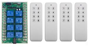 Image 4 - DC 12V 24V 8 CH チャンネル 8CH RF ワイヤレスリモートコントロールスイッチリモコンシステムレシーバトランスミッタ 8CH リレー 315/433 MHz