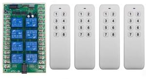 Image 4 - DC 12V 24V 8 CH Channels 8CH RF Wireless Remote Control Switch Remote Control System receiver transmitter 8CH Relay 315/433 MHz
