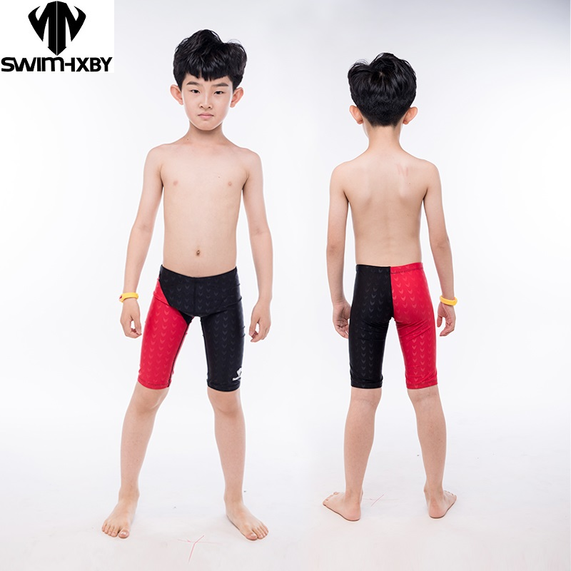 HXBY Boys Swimwear Professional Competition Children's Swimsuit For Boy Baby Training Men's Swimming Trunks Shorts Plus Size 5XL