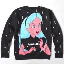 Stars Cartoon Sexy Lady skull Punk/Marilyn Monroe Print 3d Sweatshirt Women/Men Outerwear Harajuku hoodies plus size S-5XL