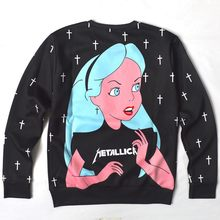 Sterren Cartoon Sexy Lady Punk/Marilyn Monroe Print 3d Sweatshirt Vrouwen/Mannen Bovenkleding Harajuku hoodies plus size S-5XL(China)