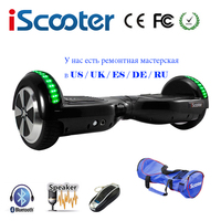 IScooter Hoverboard6 5 Inch Bluetooth Electric Skateboard Steering Wheel Smart 2 Wheel Self Balance Standing Scooter