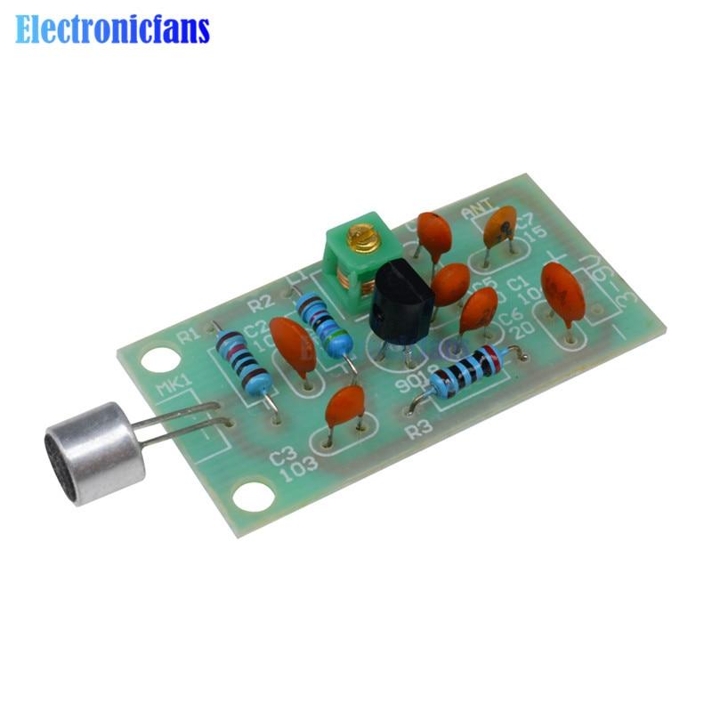 Diymore kit de bricolage Module émetteur FM Mini Microphone sans fil Ham Radio fréquence PCB conseil 91-103MHz 3 V-5 V cc pour bricolage