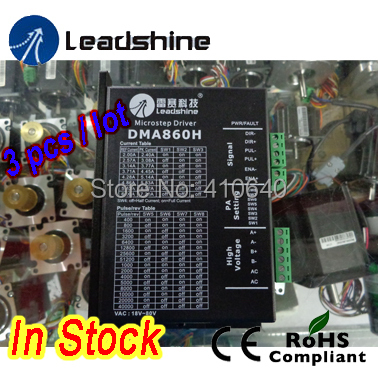 Free shipping ! 3 pcs per lot ! In Stock! Leadshine DMA860H 2 Phase Stepper Drive with 18~80 VDC suitable for NEMA 34 to 42 2pcs lot leadshine 2 phase high precision stepper drive am882