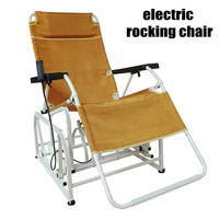 Adult Electric Rocking Chair with Adjust Seat, Leisure Chair Balcony Chair can Load 200KG, Foldable Adult Chair