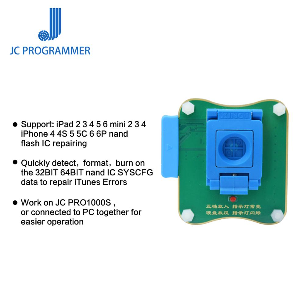 JC Pro1000s NAND Flash Programmer 32/64 Bit Socket For IPad 2 3 4 5 6 mini 2 3 4 IPhone 4 4S 5 5C 6 6P Nand Flash IC RepairingJC Pro1000s NAND Flash Programmer 32/64 Bit Socket For IPad 2 3 4 5 6 mini 2 3 4 IPhone 4 4S 5 5C 6 6P Nand Flash IC Repairing