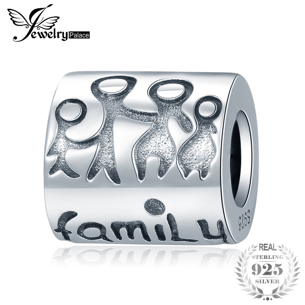 JewelryPalace 925 Sterling Silver Engraved Family Member Bead Charm Fit Bracelet For Women New Hot Sale As Best GiftsJewelryPalace 925 Sterling Silver Engraved Family Member Bead Charm Fit Bracelet For Women New Hot Sale As Best Gifts