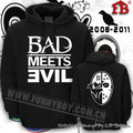 new 2017 free shipping Thickening loose sweatshirt eminem hoodie devil combination bad meets evil lovers outerwear pullover