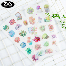 6pcs/lot Color more than meat plant Diary Stickers DIY Kawaii Scrapbooking Mini Stationery Sticker Office School Supplies