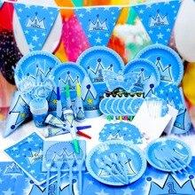 5c9388c5e 116 unids lote 12 gente nueva embroma la decoración Set cumpleaños prince  crown Tema del partido suministros fiesta de cumpleaño.