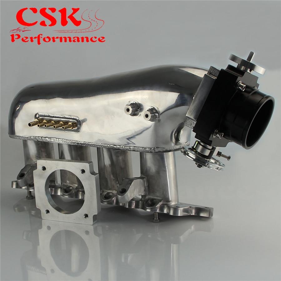 Intake Manifold+ Universal 80mm Throttle Body For Lancer Evolution 4G63 EVO 4-9 Blue / Silver / Black 4g63 engineering 70mm throttle body for mitsubishi lancer evo 4 5 6 eclipse dsm silver
