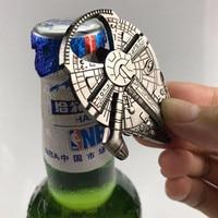 Fashion Steel Millennium Falcon Star War Bottle Opener For Beer Durable Metal Alloy Airship Keychain