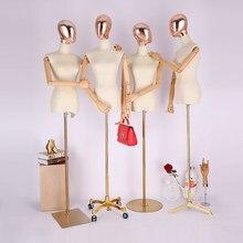 Nuovo Stile di Vendita Calda Sartoria Modello di Tessuto Femminile  Mannequin Con Golden Testa Calda di Vendita 2c562d2331f