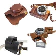 Новый роскошный PU кожа видео Камера Чехол для Olympus EPL8 E-PL8 14-42 мм Камера мешок открыть Батарея с ремень мини-сумка