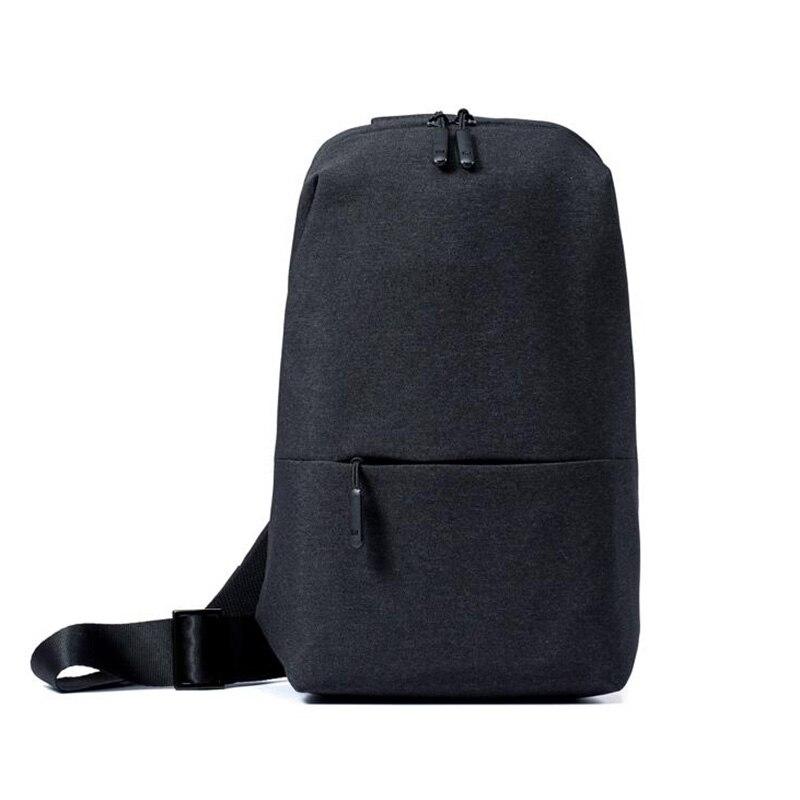 Xiaomi originais Mochila lazer urbano Tipo de pacote de peito Para Homens Mulheres Ombro Unisex Mochila para câmera DVD telefones saco de Viagem