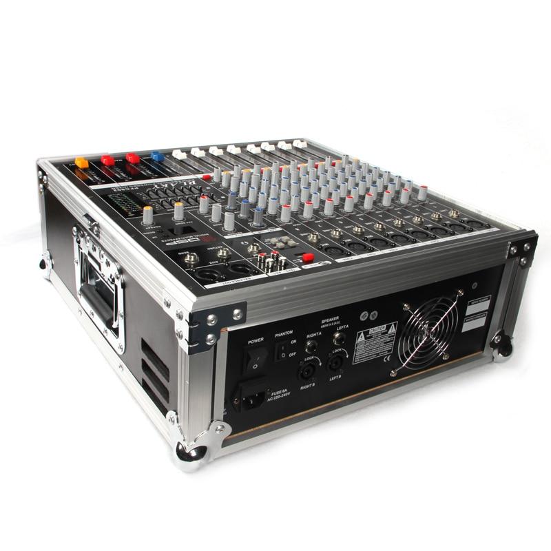 US $177 27 5% OFF|Hot sale Professional Powered Audio DJ Mixer Channel  Mezcladora De DJ Mikser Mischer Low noise design of 8 Road-in Amplifier  from