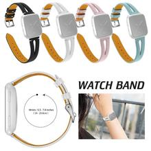 Hot Sale 23 MM Leather Strap Replacement Watch Band 2019 New Arrival Middle Open Wristband For Fitbit Versa Smart