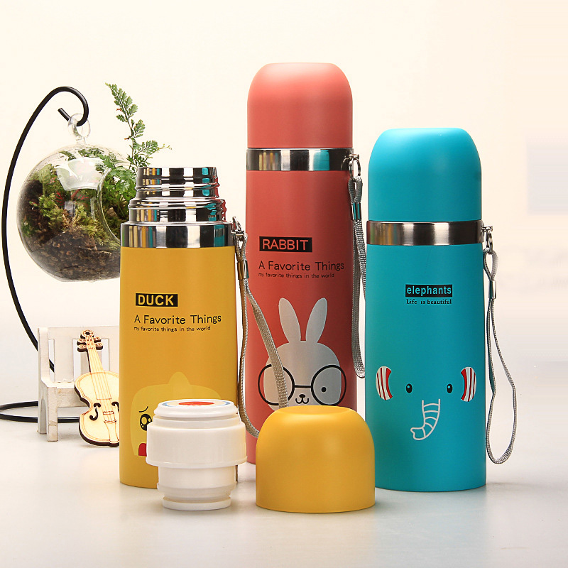 HOT Thermos Water Bottle 500ml Garrafa Stainless Steel Termica Inox Travel Cup Copo Termico Mug Caneca