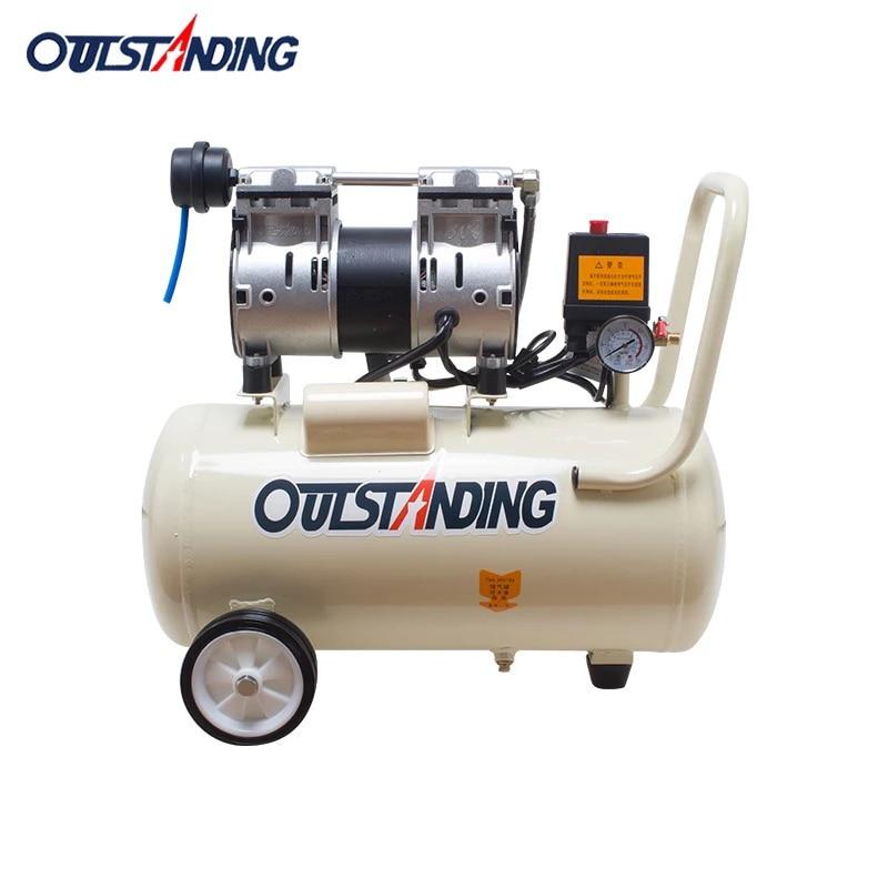 8L Portable air compressor 0.7MPa small inflating pump cylinder air pump oil-free compressor