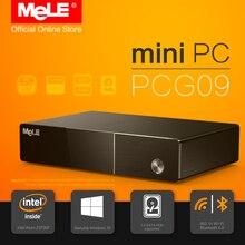 Sin ventilador Intel Mini PC MeLE PCG09 Windows 10 Quad Core Z3735F Bay Trail 2 GB/32 GB Apoyo M.2 SSD SATA HDD HDMI VGA LAN WiFi BT