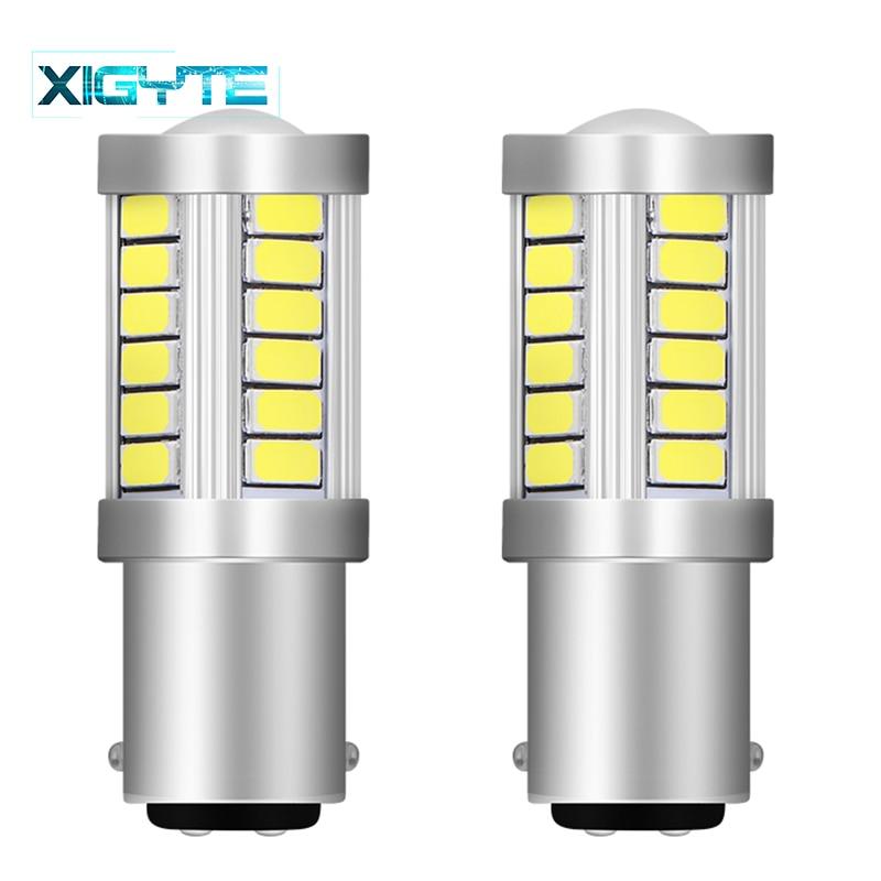 2PCS High Quality 1157 BAY15D P21/5W 33 SMD 5630 5730 LED Car Brake Lights Tail Lamps Turn Signal 33SMD Auto Rear Reverse Bulbs