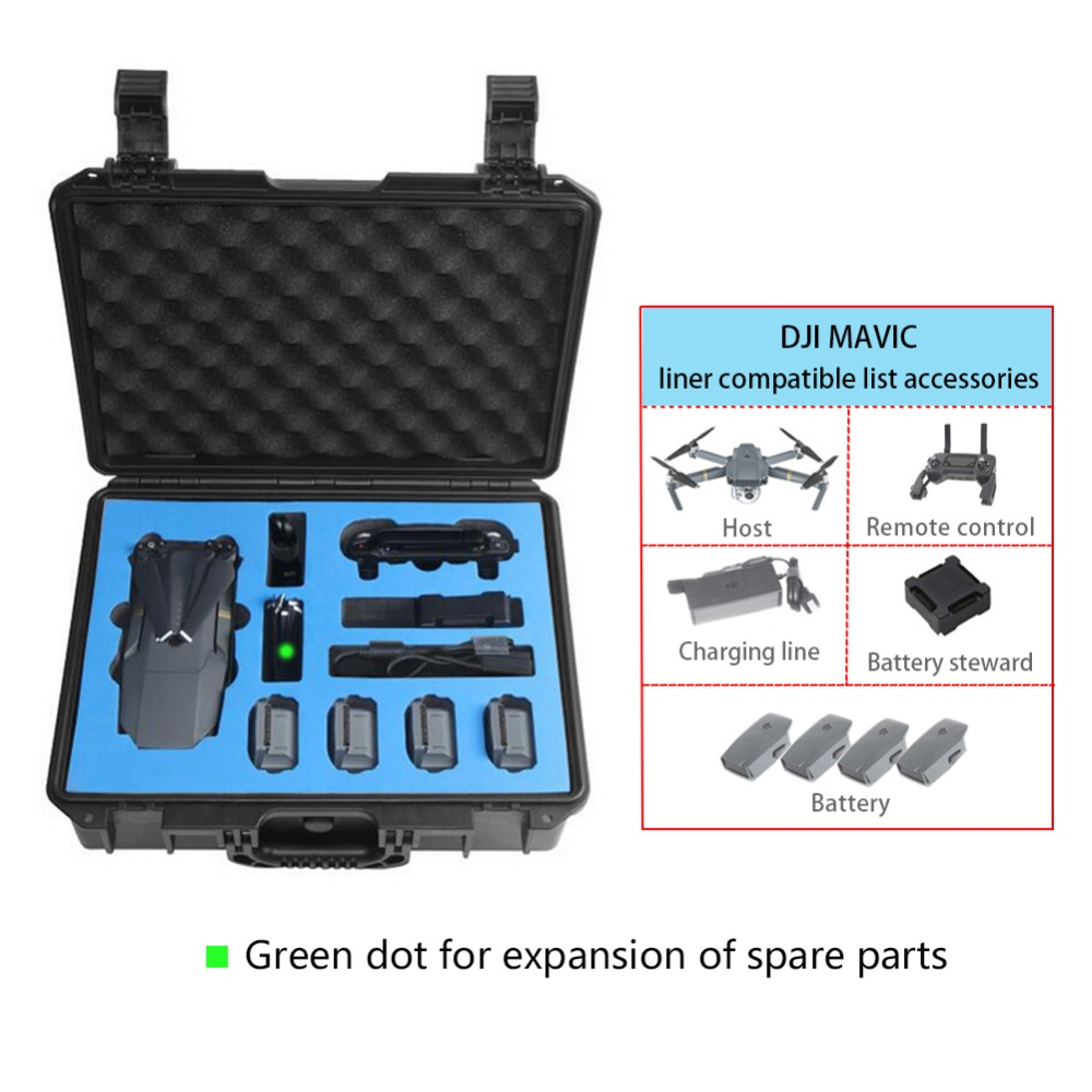 DJI MAVIC Drone suitcase Professional waterproof  Backpack Hardshell  Case Backpack for DJI MAVIC  Case dji spark glasses vr glasses box safety box suitcase waterproof storage bag humidity suitcase for dji spark vr accessories