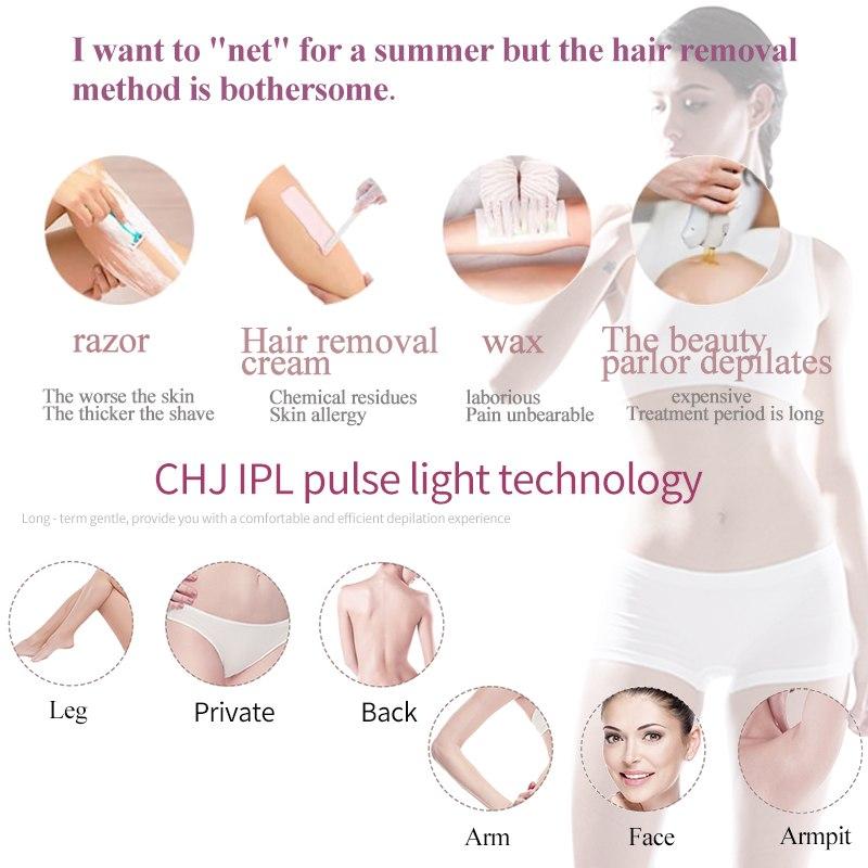 Image 4 - Перманентный лазерный эпилятор для женщин, IPL лазерный эпилятор, устройство для удаления волос на лице, для женщин, мужчин, для подмышек, для ног, бикини-in Эпиляторы from Бытовая техника