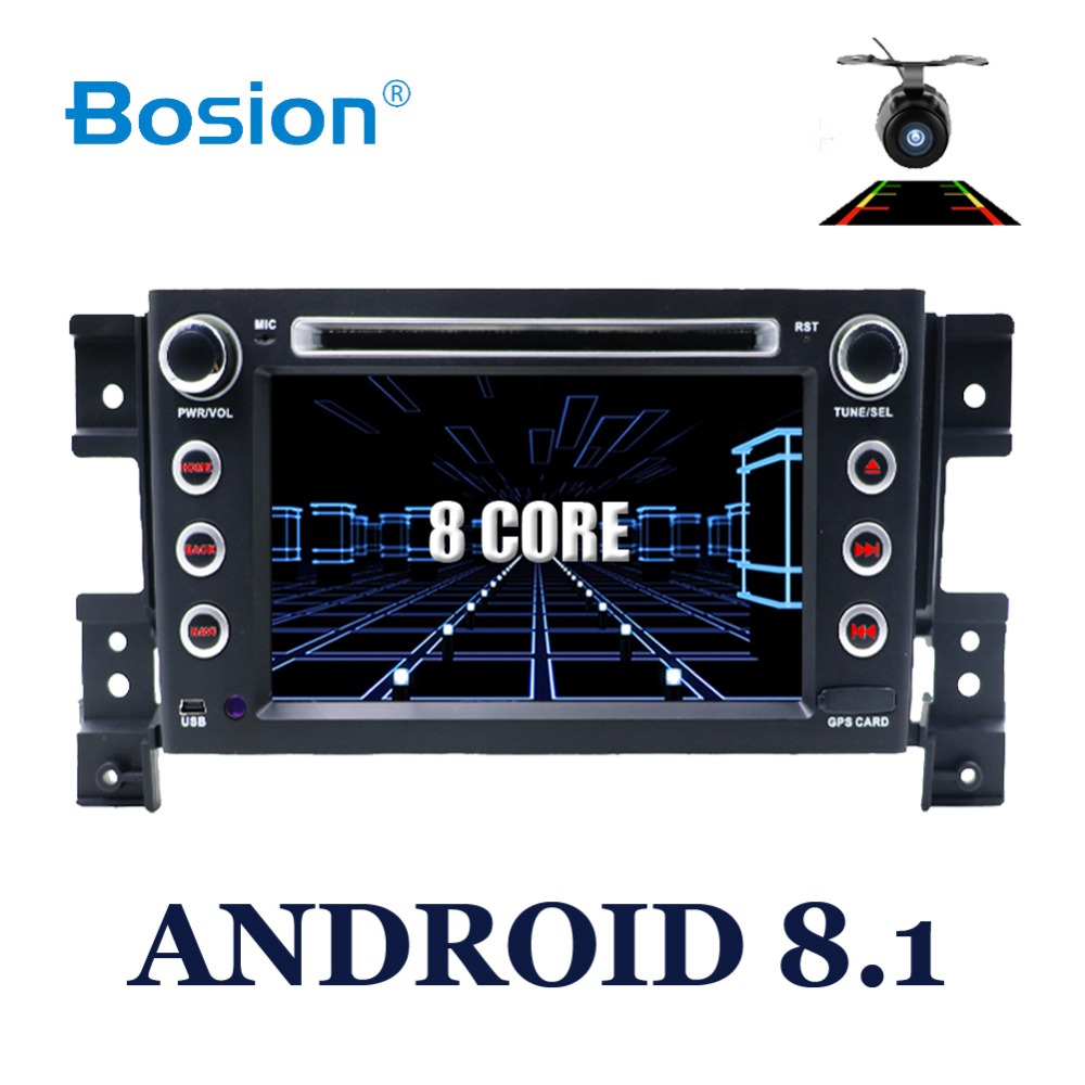 Bosion Voiture lecteur multimédia GPS 2 Din Android 8.1 DVD Automotivo Pour SUZUKI/Grand Vitara 2005 Radio FM 8 Noyaux ram 2G Rom 16G