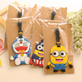 Korean Cartoon Cute Rubber Luggage Tag Travel Address Name Label Silicon Travel Accessories for Trolley Case