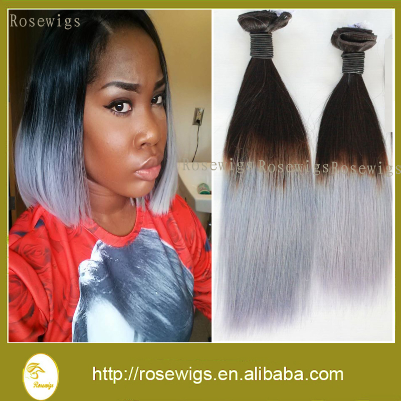 Top quality 7a peruvian virgin hair ombre hair extension 1bgrey top quality 7a peruvian virgin hair ombre hair extension 1bgrey two tone color peruvian ombre silver virgin hair in hair weaves from hair extensions wigs pmusecretfo Image collections