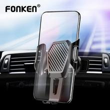 FONKEN Memory Car Phone Holder Anti-shake Air vent Mount Stands for Mobile Cell in Bracket Flexible Big Socket