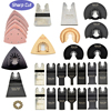 50pcs 10mm-88mm Oscillating Multi Tool Saw Blades Kit Quick Changed Type suit fo Fein ,Bosch,etc ,Set with an Adapter for Metal