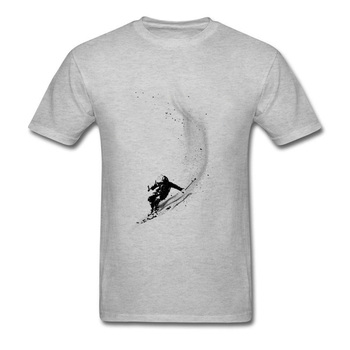 Snowboards Surfer Powder Design Tops Shirts Leisure Tops & Tees Adult Short Sleeve New T Shirts Funny White Brand Tops T-Shirt 1