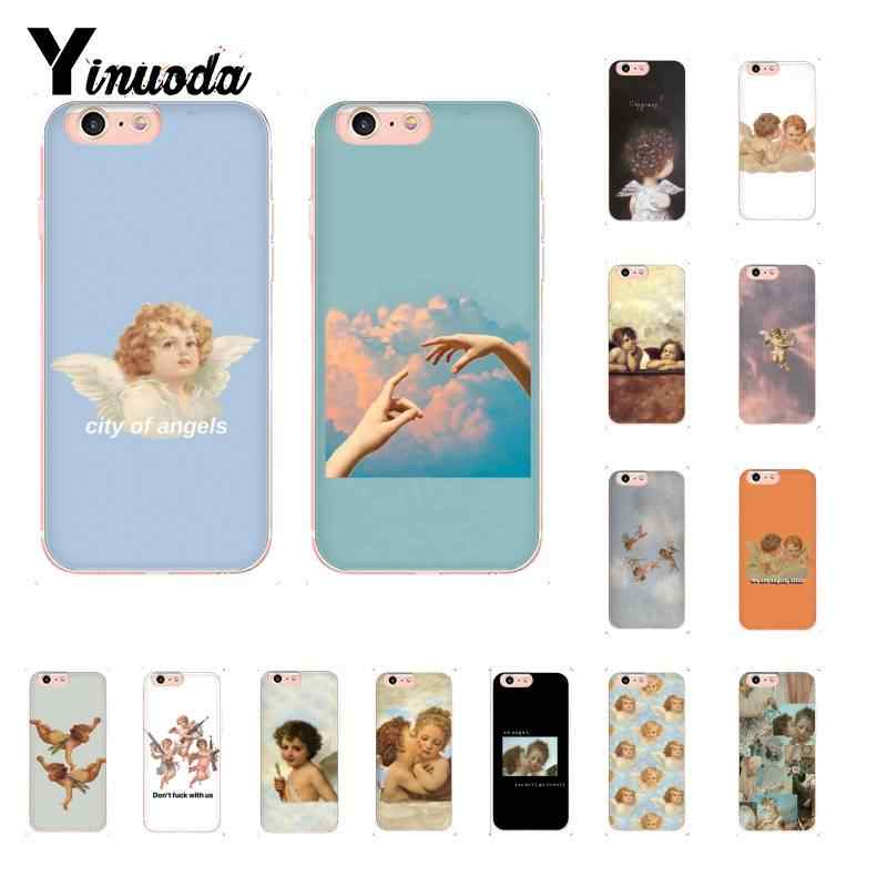 Yinuoda Renaissance angels Novelty Fundas Pattern TPU Soft Phone Case for iPhone 8 7 6 6S Plus X XS MAX 5 5S SE XR 10 Cover