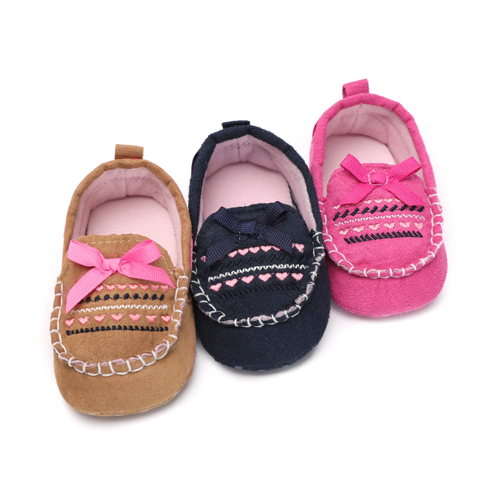 Fashion Newborn Boy Girl Shoes Baby Toddler Crib Little Butterfly-knot 0-18 months First Shoes For Kids Anti-slip Moccasins